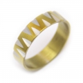 Edelstahlring Gold-silber  Nr. 41***mit RINGBOX
