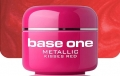 10 x 4 ml BASE ONE METALLIC-COLORGEL*KISSES RED*OHNE LABEL*NR. 31