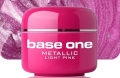 10 x 4 ml BASE ONE METALLIC-COLORGEL*LIGHT PINK*OHNE LABEL**NR. 4