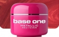 4ml BASE ONE METALLIC-COLORGEL*RED FEVER**NR. 33